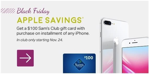 sams club iphone sam s club promises 100 any iphone for black friday 12910