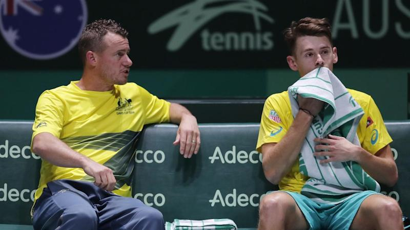 Alex de Minaur won his singles but Australia have lost their Davis Cup quarter-final against Canada