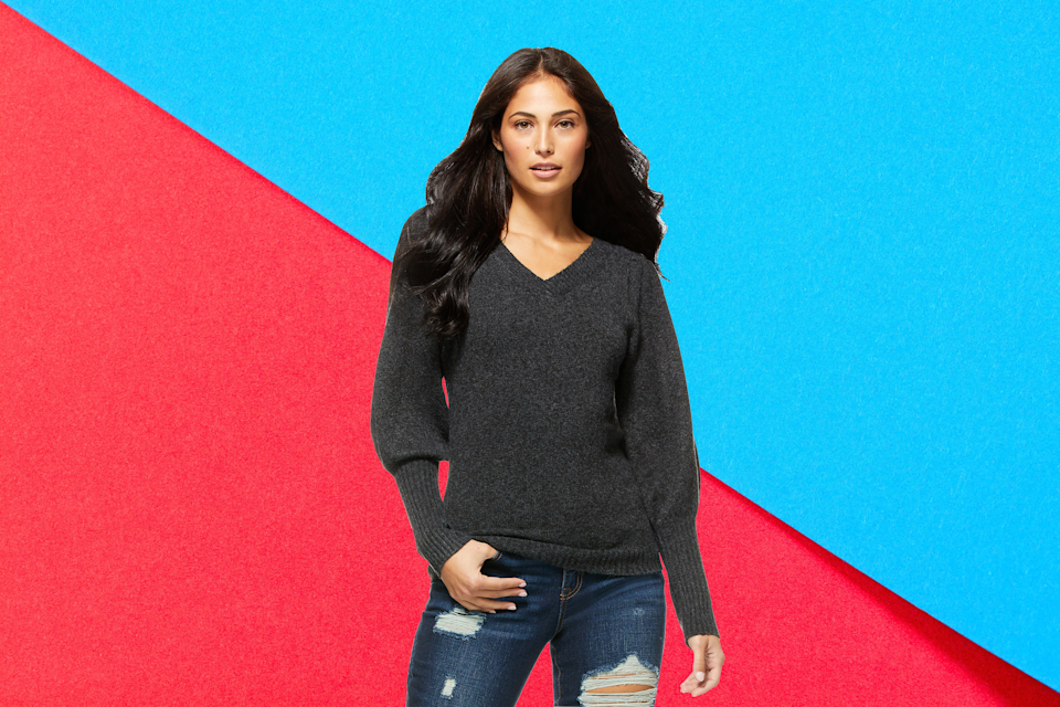 Save $10 on this Sofia Vergara Women's V-Neck Sweater. (Photo: Walmart)