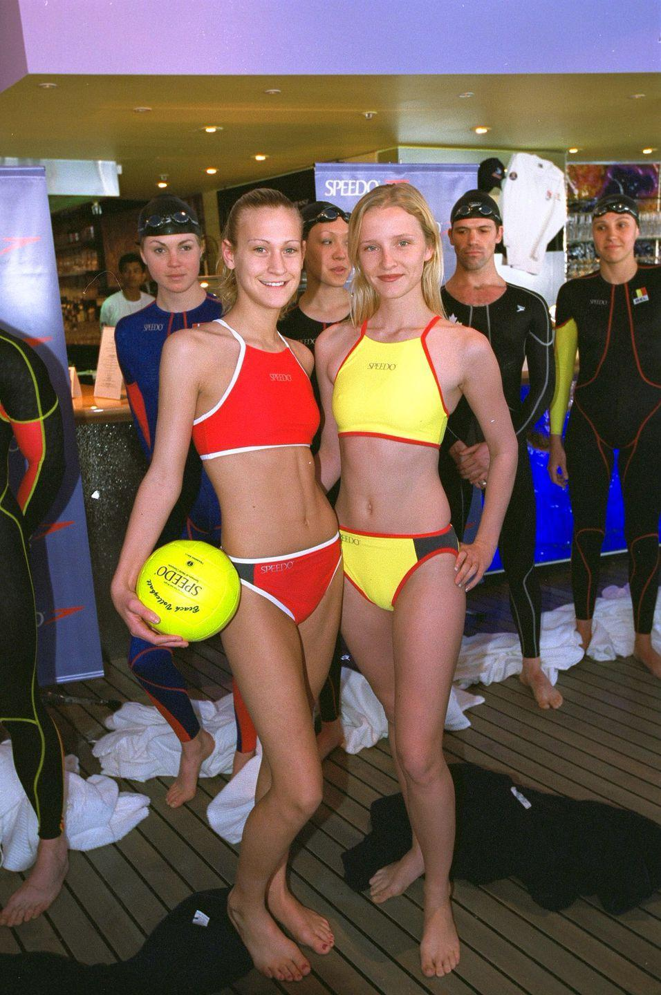 <p>In 2000, sporty styles, particularly from the athletic swimwear brand Speedo, were on top.</p>