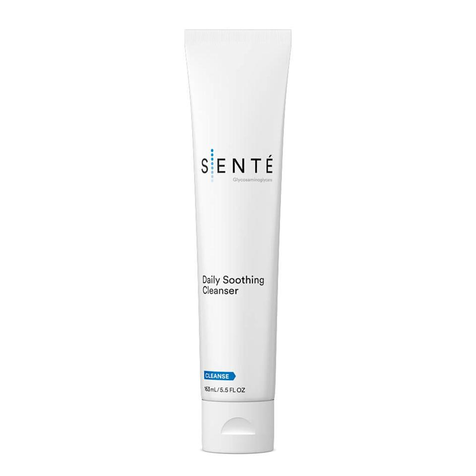 """<p>Another one of Levin's go-to cleansers for <a href=""""https://www.allure.com/gallery/best-of-beauty-sensitive-skin-care-product-winners?mbid=synd_yahoo_rss"""">sensitive skin</a> is Senté's Daily Soothing Cleanser, which is featherlight, hydrating, and comforting on inflamed complexions. Calling it both effective and gentle, Levin appreciates the balance of humectants and water-trapping ingredients <a href=""""https://www.allure.com/story/what-is-glycerin-skin-care-ingredient?mbid=synd_yahoo_rss"""">like glycerin</a> and dimethicone. """"I always prefer a creamy cleanser for sensitive skin, and this one is really nice,"""" she tells <em>Allure.</em></p> <p><strong>$34</strong> (<a href=""""https://shop-links.co/1686294487910664418"""" rel=""""nofollow"""">Shop Now</a>)</p>"""