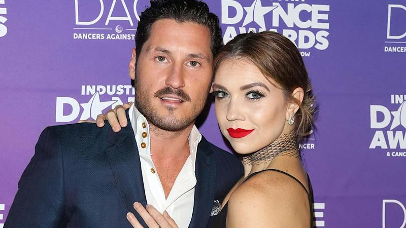 Val Chmerkovskiy and Girlfriend Jenna Johnson Share Passionate Kiss During 'DWTS' Finale Performance