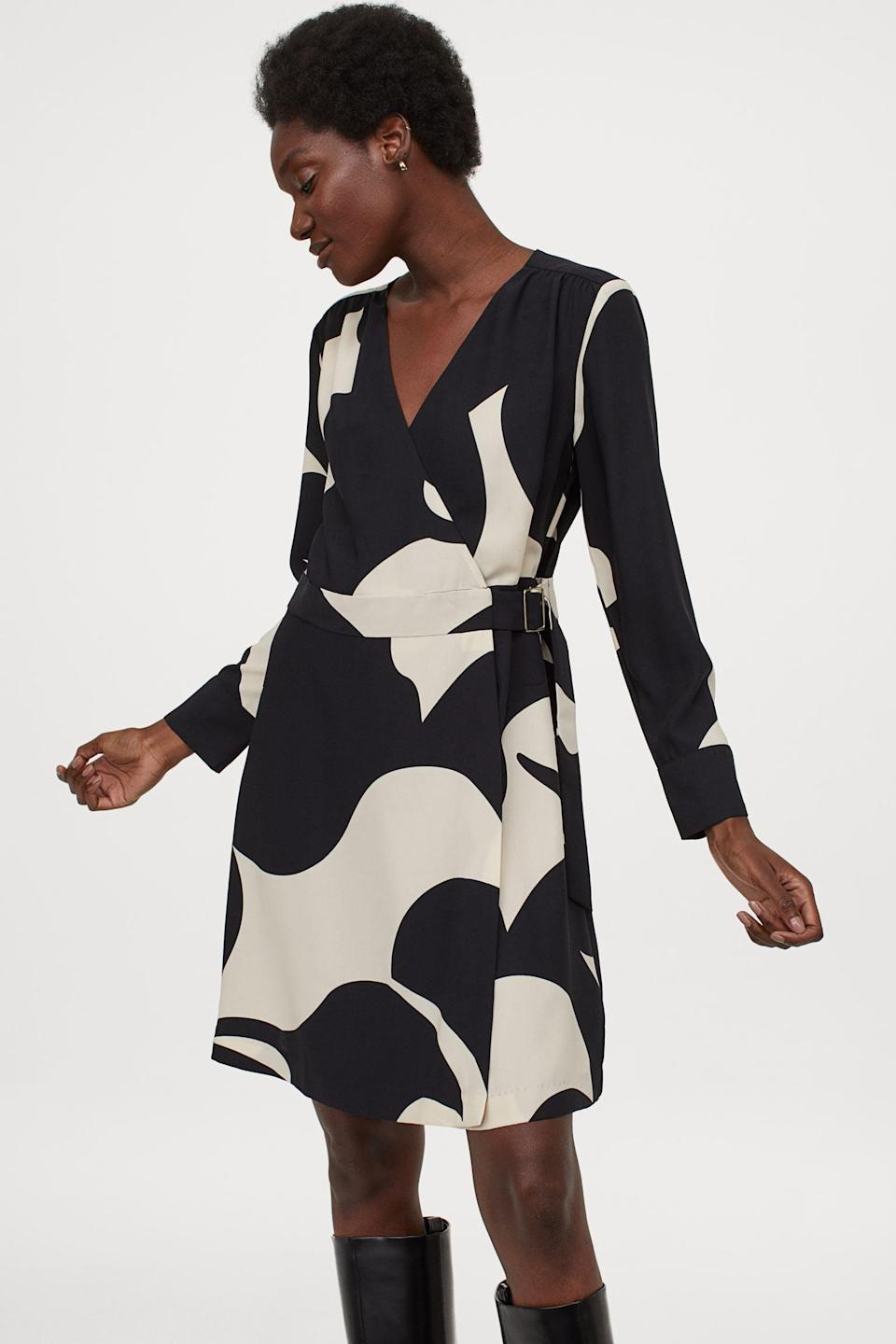 <p>This <span>H&amp;M Belted Wrap Dress</span> ($40) is up for your next day at the office.</p>