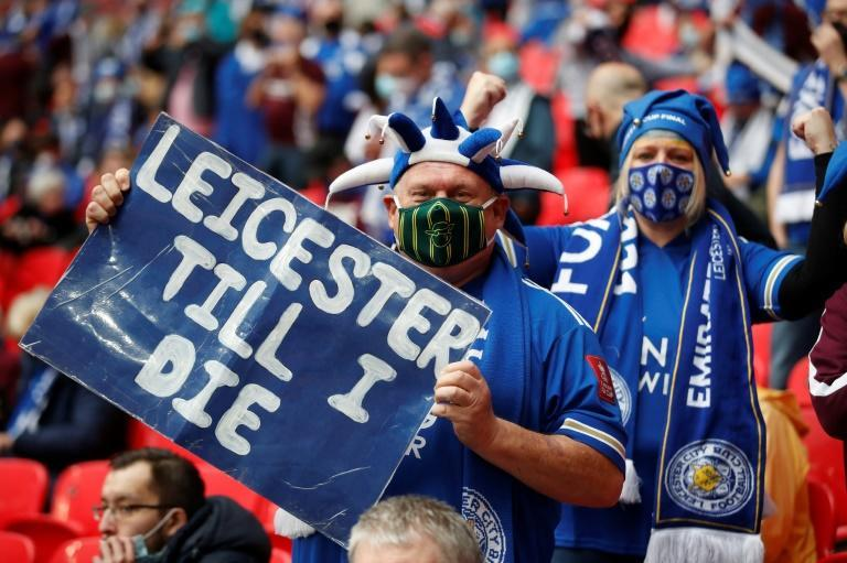 Leicester fans celebrated their side winning the FA Cup for the first time