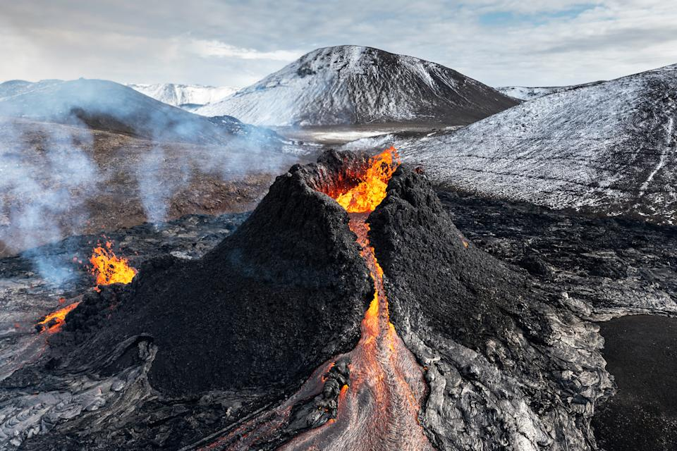 Volcanoes help to 'stabilise' carbon dioxide in the atmosphere. (Getty)