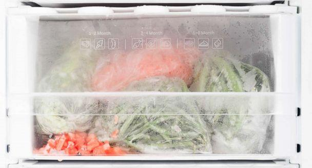 PHOTO: Freezer with open door and frozen food (STOCK PHOTO/Getty Images)