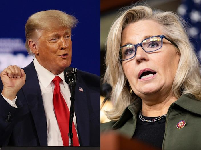 <p>Liz Cheney takes aim at Trump and McCarthy in new op-ed, as ex-president endorses Stefanik to replace her</p> (Getty Images)