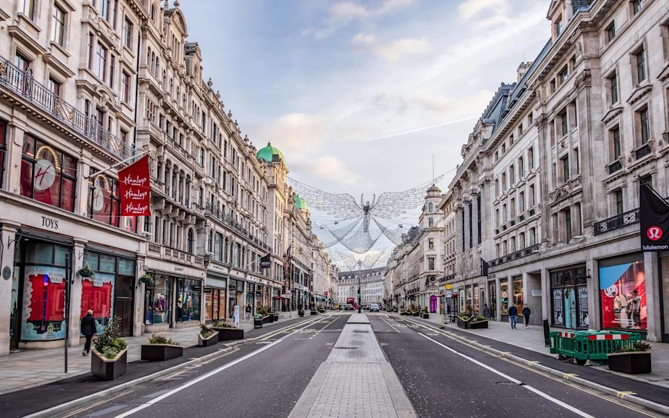 Regent Street amid the latest lockdown - Getty