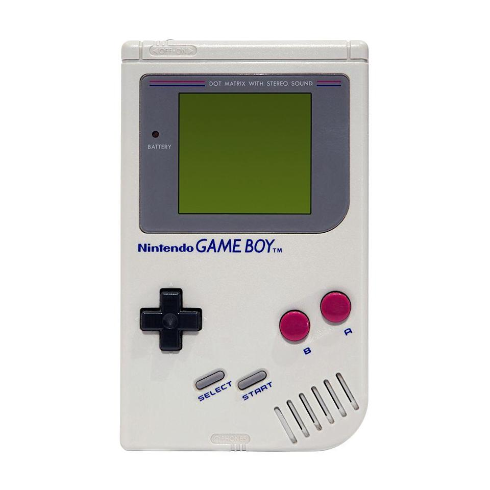 "<p><a class=""link rapid-noclick-resp"" href=""https://www.amazon.com/Game-Boy-Color-Teal/dp/B0000296ZM/ref=sr_1_4?tag=syn-yahoo-20&ascsubtag=%5Bartid%7C10063.g.34738490%5Bsrc%7Cyahoo-us"" rel=""nofollow noopener"" target=""_blank"" data-ylk=""slk:BUY NOW"">BUY NOW</a><br></p><p>Nintendo shocked the market of handheld game consoles in 1989 with the release of their Game Boy. The games available during the initial launch were <em>Tennis, Tetris, Baseball, Alleyway, </em>and the beloved <em>Super Mario Land. </em> Selling out in just weeks from its release, the Game Boy became the hottest item to get. Over the next decade, Nintendo went on to release different versions, like the Game Boy Color and Game Boy Advance.</p>"