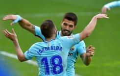 <p>Barcelona grind out victory in Eibar before Chelsea trip</p>