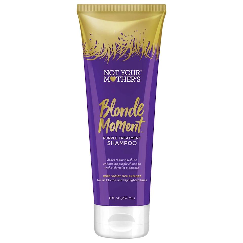 <p><span>Not Your Mother's Blonde Moment Treatment Shampoo</span> ($8) is a clean, cruelty-free, paraben-free, and sulfate-free formula that neutralizes brassy color, enhances shine, and smooths damaged hair.</p>
