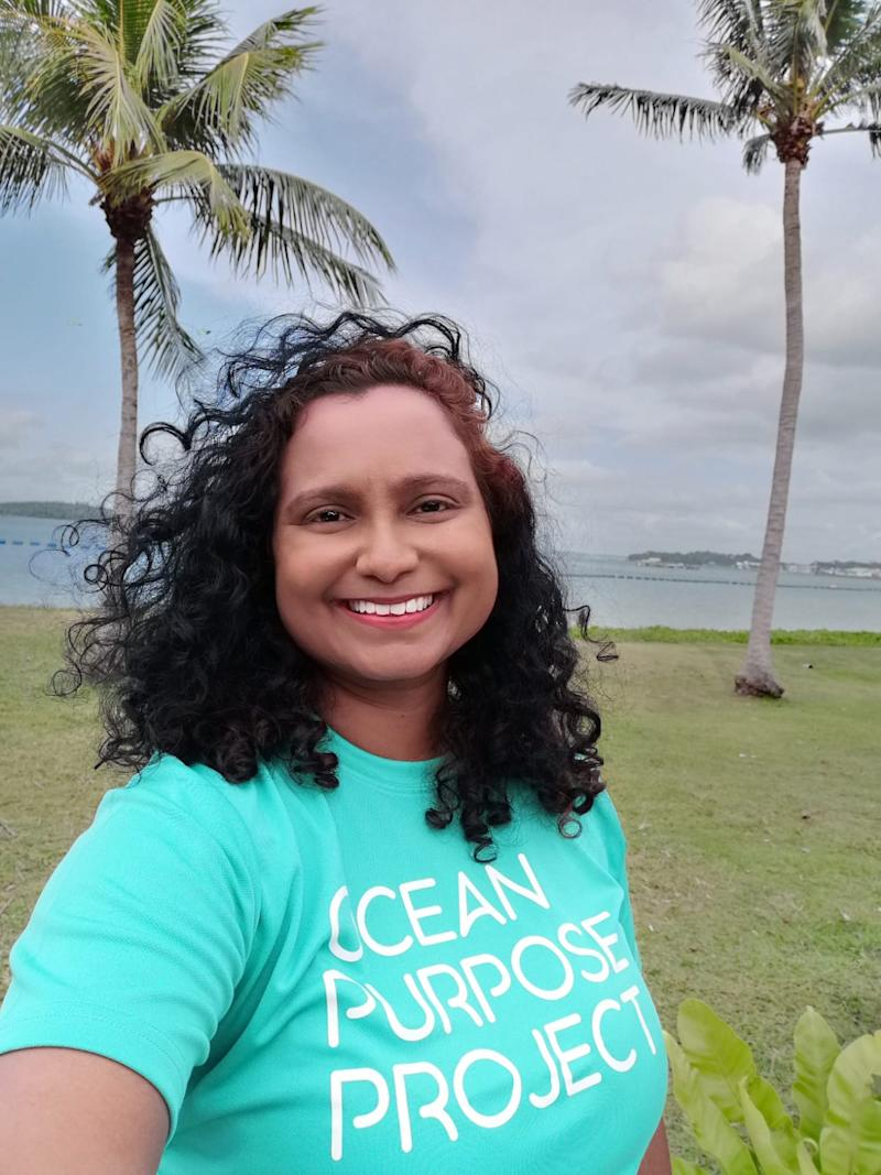 Mathilda D'Silva founded social enterprise Ocean Purpose Project to tackle the problem of marine pollution and plastic waste in Singapore and beyond. (Photo: Ocean Purpose Project)