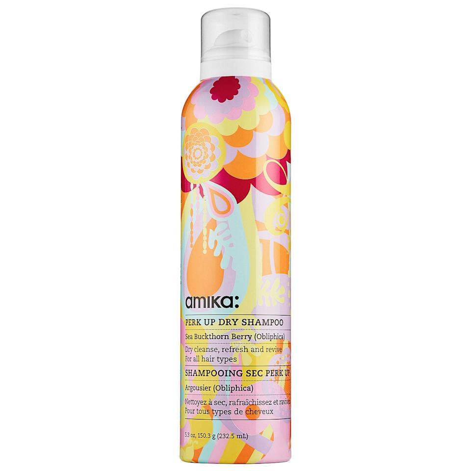 """<p>""""I'm obsessed with <a href=""""https://www.popsugar.com/buy/Amika%20Perk%20Up%20Dry%20Shampoo-159805?p_name=Amika%20Perk%20Up%20Dry%20Shampoo&retailer=sephora.com&pid=159805&price=10&evar1=bella%3Aus&evar9=43600835&evar98=https%3A%2F%2Fwww.popsugar.com%2Fbeauty%2Fphoto-gallery%2F43600835%2Fimage%2F43600837%2FAmika-Perk-Up-Dry-Shampoo&list1=hair%2Cbeauty%20products%2Cdry%20shampoo%2Chair%20products%2Chair%20care%2Cbeauty%20shopping%2Cbeauty%20review%2Cbeauty%20product%20review&prop13=mobile&pdata=1"""" rel=""""nofollow"""" data-shoppable-link=""""1"""" target=""""_blank"""" rel=""""nofollow"""" class=""""ga-track"""" data-ga-category=""""Related"""" data-ga-label=""""http://www.sephora.com/perk-up-dry-shampoo-P393281"""" data-ga-action=""""In-Line Links"""">Amika Perk Up Dry Shampoo</a> ($10). I fell in love a few years ago when I broke my ankle and washing my hair was nearly impossible. I've tried many, many dry shampoos but none rival this colorful can. It covers any trace of greasy roots without any white residue (often a challenge for brunettes), feels cool and fresh on my scalp, and smells incredible. The scent is so intoxicating that I actually get compliments on it regularly - the brand says it's a mix of vanilla, citrus, and clover. I bought Amika's room spray in the same scent because I love it that much."""" - Joanna Douglas, head of Native Content</p>"""