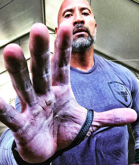 "<p>""Chalked up and heavily calloused on one of my fav holidays – Labor Day,"" the Rock wrote, along with a promise, as he showed off his worn-in mitts. ""Cheers to always putting in the hard work with our two hands. My hands may be f***ed up, calloused [sic] and clearly super sexy, but when I shake your hand and look you in the eye and commit; it's stronger than any labor contract we could sign. I'm old school that way. Cheers to the working men and women today. Enjoy your families."" (Photo: <a href=""https://www.instagram.com/p/BYoupRWliDd/?taken-by=therock"" rel=""nofollow noopener"" target=""_blank"" data-ylk=""slk:Dwayne Johnson via Instagram"" class=""link rapid-noclick-resp"">Dwayne Johnson via Instagram</a>) </p>"