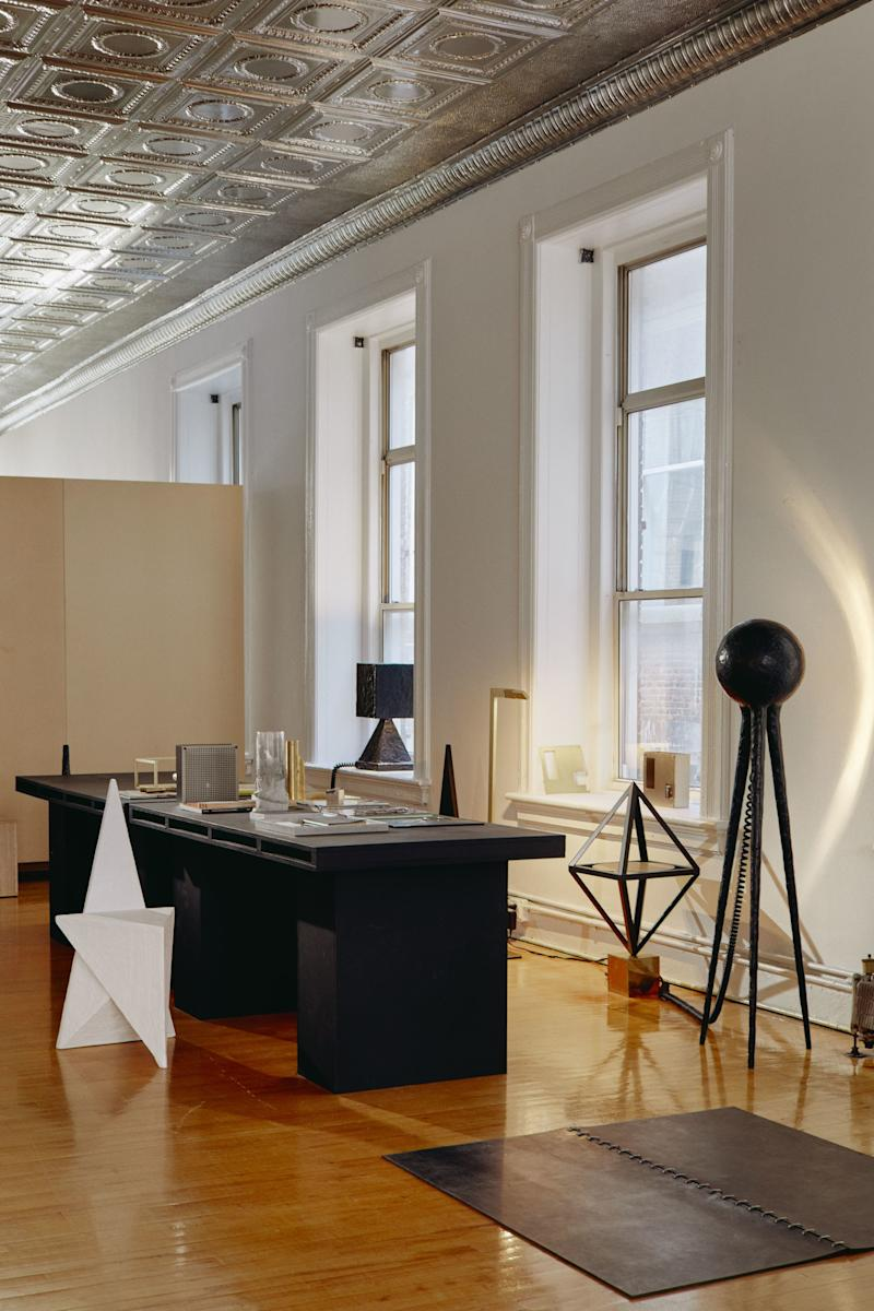 Sculptural creations fill Material Lust's SoHo live-work space.