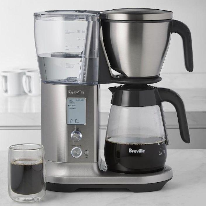 """<p>williams-sonoma.com</p><p><strong>$279.95</strong></p><p><a href=""""https://go.redirectingat.com?id=74968X1596630&url=https%3A%2F%2Fwww.williams-sonoma.com%2Fproducts%2Fbreville-precision-brewer-glass&sref=https%3A%2F%2Fwww.thepioneerwoman.com%2Fholidays-celebrations%2Fgifts%2Fg37069384%2Fbest-anniversary-gifts%2F"""" rel=""""nofollow noopener"""" target=""""_blank"""" data-ylk=""""slk:Shop Now"""" class=""""link rapid-noclick-resp"""">Shop Now</a></p><p>You can tackle any obstacle as a couple once you're <a href=""""https://www.thepioneerwoman.com/food-cooking/a35153729/types-of-coffee/"""" rel=""""nofollow noopener"""" target=""""_blank"""" data-ylk=""""slk:caffeinated"""" class=""""link rapid-noclick-resp"""">caffeinated</a>. This machine makes 12 cups in just seven minutes and has different modes for over ice or coldbrew. </p>"""
