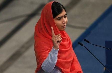 Nobel Peace Prize laureate Malala Yousafzai delivers her speech during the Nobel Peace Prize awards ceremony at the City Hall in Oslo December 10, 2014.  REUTERS/Suzanne Plunkett