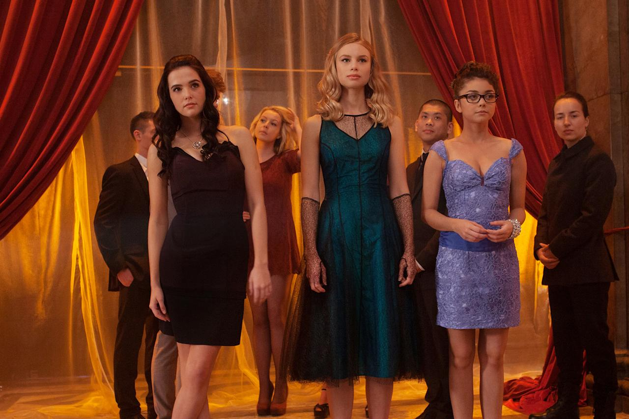 "Zoey Deutch, Lucy Fry and Sarah Hyland in The Weinstein Company's ""Vampire Academy"" - 2014"