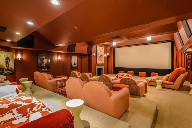 The fully finished lower level of Harvey Weinstein's 9,000 sq. ft. Amagansett home with a professional screening room (3-D movie capable)