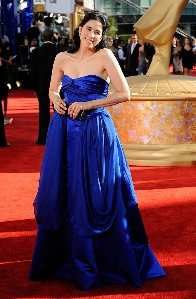 Sarah Silverman arrives at the 61st Primetime Emmy Awards held at the Nokia Theatre on September 20, 2009, in Los Angeles.