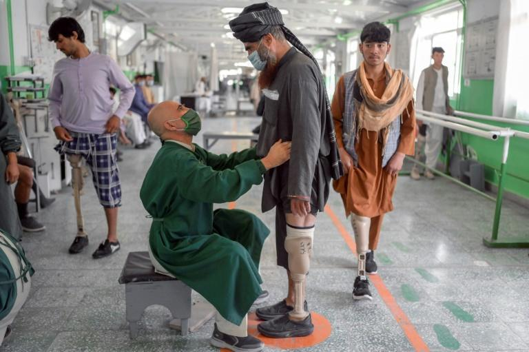 At the International Committee of Red Cross Rehabilitation Centre in Kabul, amputees are not asked about their affiliations (AFP/BULENT KILIC)