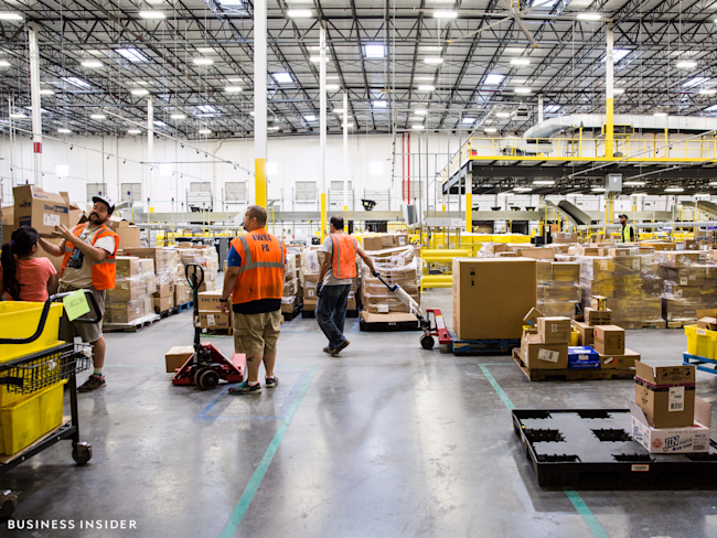 Amazon warehouse, New Jersey