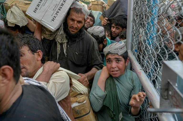 The Taliban said they were shuttering the gates completely in protest against Pakistan, which has repeatedly said it would not accept Afghan refugees (AFP/BULENT KILIC)