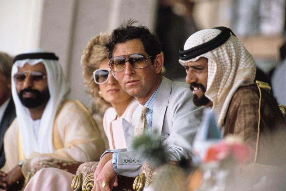 <p>The Crown has made us aware of his incredible style. Here he is attending a camel race in Abu Dhabi. </p>