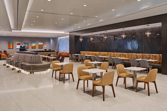 """The Delta Sky Club at the new Salt Lake City International Airport. <p class=""""copyright"""">Delta Air Lines</p>"""
