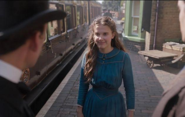 Millie Bobby Brown in a still from Enola Holmes