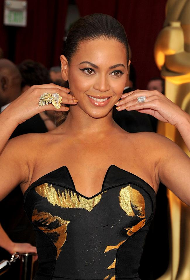 Beyonce arrives at the 81st Annual Academy Awards held -- Feb. 22, 2009.