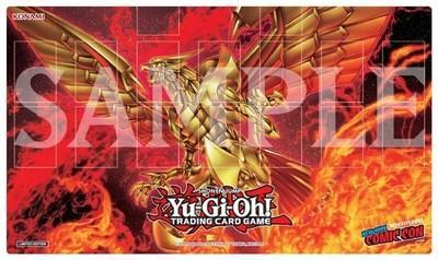 Exclusive Game Mat for NYCC x MCM Metaverse featuring The Winged Dragon of Ra