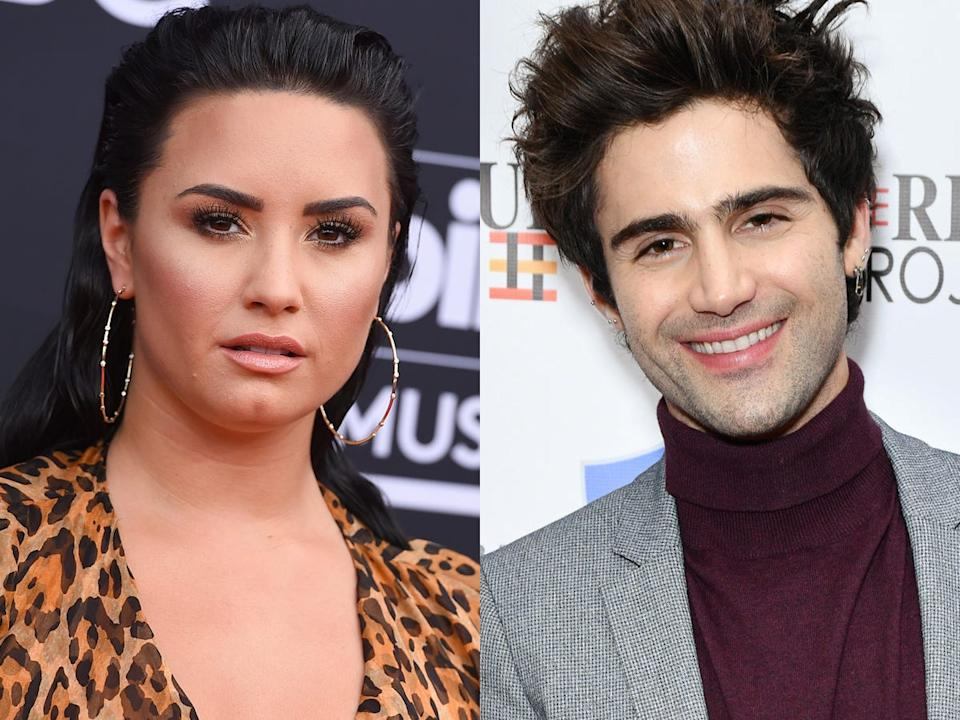 Demi Lovato and Max Ehrich began interacting with each other on social media in March 2020.