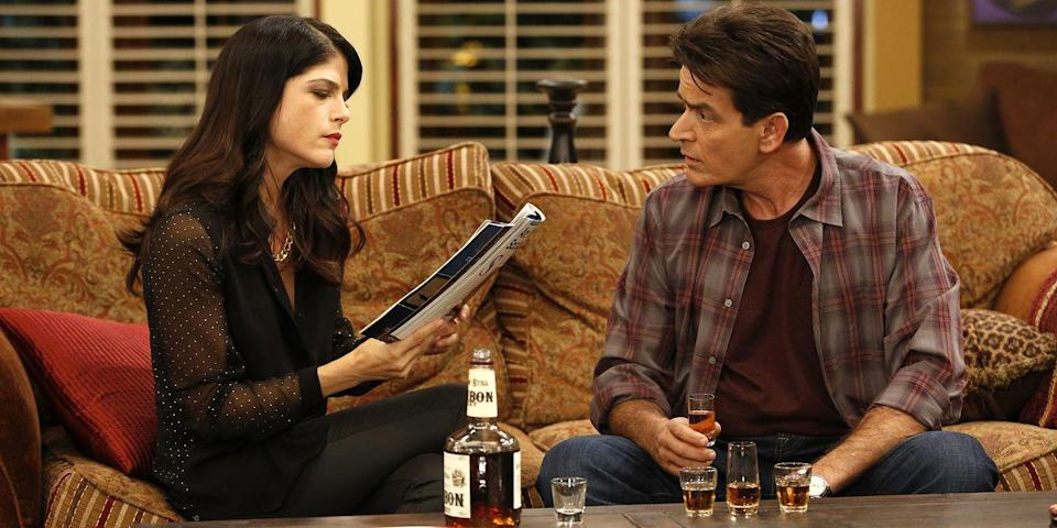 "<p>While Sheen already has a reputation for rubbing people the wrong way, he especially did so with Selma Blair on the set of <em>Anger Management</em>. According to reports, Sheen got Blair fired from the comedy after hearing that she was complaining about his work ethic. According to Blair, <a href=""http://latino.foxnews.com/latino/entertainment/2013/06/19/charlie-sheen-fires-anger-management-co-star-selma-blair-with-explicit-text-message/"" rel=""nofollow noopener"" target=""_blank"" data-ylk=""slk:Sheen then sent her"" class=""link rapid-noclick-resp"">Sheen then sent her</a> an ""explicit text message"" relaying the news that she had been fired from the show. Bad blood indeed. </p>"