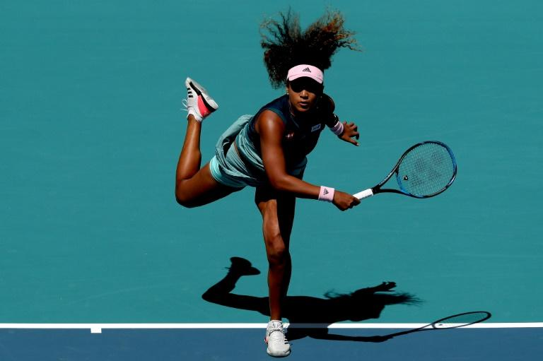 World number one Naomi Osaka (pictured March 22, 2019) had looked in little danger after winning the first set and moving a break ahead in the second