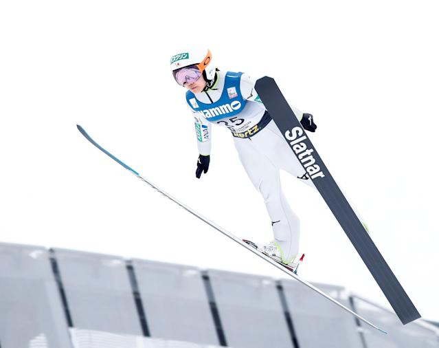 FIS Ski Jumping World Cup - Women's HS134 - Holmenkollen, Norway - March 11, 2018. Sara Takanashi from Japan competes. NTB Scanpix/Terje Bendiksby via REUTERS ATTENTION EDITORS - THIS IMAGE WAS PROVIDED BY A THIRD PARTY. NORWAY OUT. NO COMMERCIAL OR EDITORIAL SALES IN NORWAY.