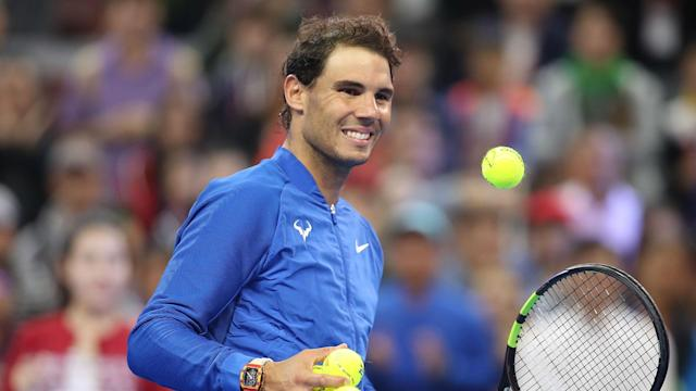 There was little Karen Khachanov could do to stop Rafael Nadal, while Alexander Zverev also reached the China Open quarter-finals.