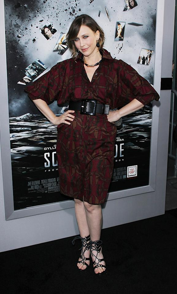 "<a href=""http://movies.yahoo.com/movie/contributor/1800354486"">Vera Farmiga</a> attends the Los Angeles premiere of <a href=""http://movies.yahoo.com/movie/1810150340/info"">Source Code</a> on March 28, 2011."