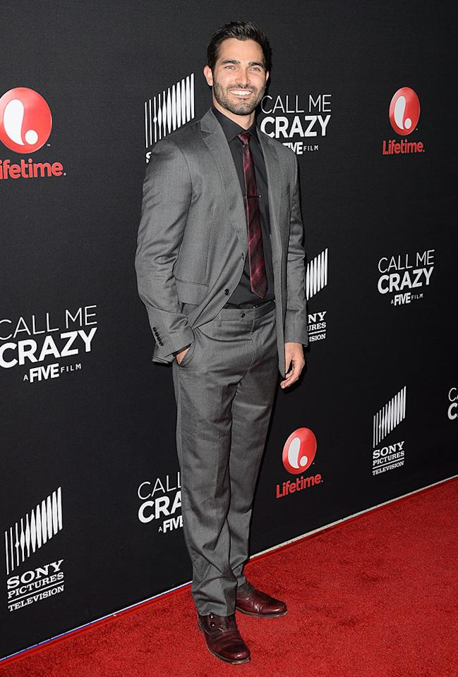"Tyler Hoechlin attends the premiere of Lifetime's ""Call Me Crazy: A Five Film"" at Pacific Design Center on April 16, 2013 in West Hollywood, California."