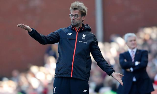 "<span class=""element-image__caption"">Jürgen Klopp's youthful Liverpool starting XI struggled at Stoke last weekend before substitutions helped them to the win.</span> <span class=""element-image__credit"">Photograph: Carl Recine/Reuters</span>"