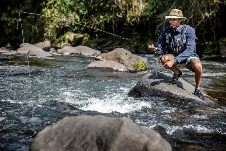 Kenya Fly Fishers' Club trustee Musa Ibrahim says there are now many local Kenyans who fish (AFP/LUIS TATO)