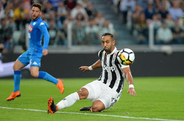Soccer Football - Serie A - Juventus v Napoli - Allianz Stadium, Turin, Italy - April 22, 2018 Juventus' Medhi Benatia in action REUTERS/Massimo Pinca
