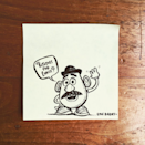 Dad wins at school lunches with illustrated Post-it notes