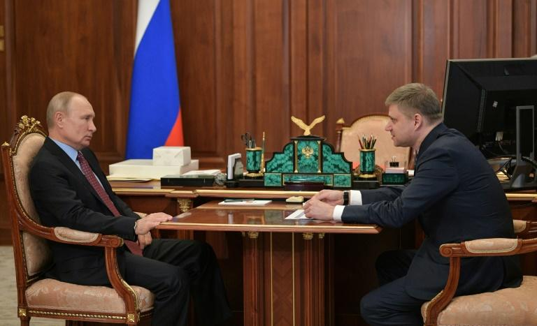 Putin's meeting with the head of Russian Railways, Oleg Belozerov, was the first at the Kremlin since May 9, according to his official schedule