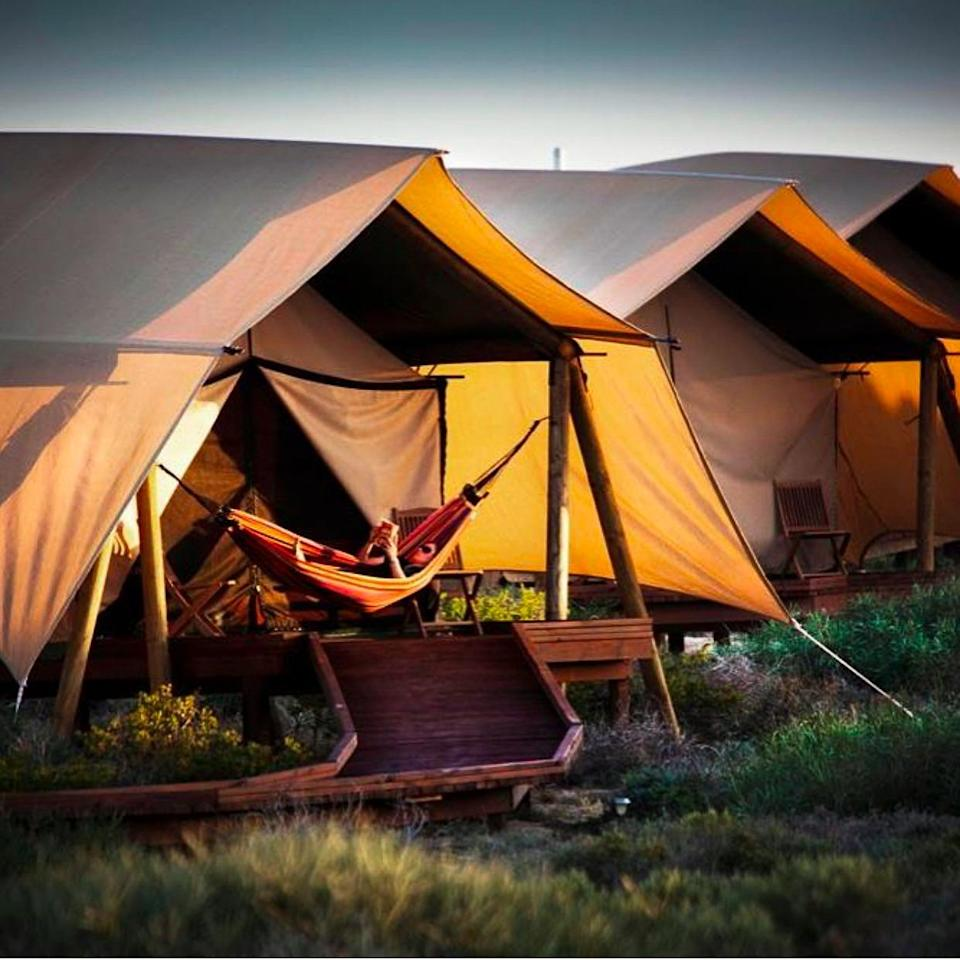 Pippa and James have been staying at the Sal Salis Ningaloo Reef resort.