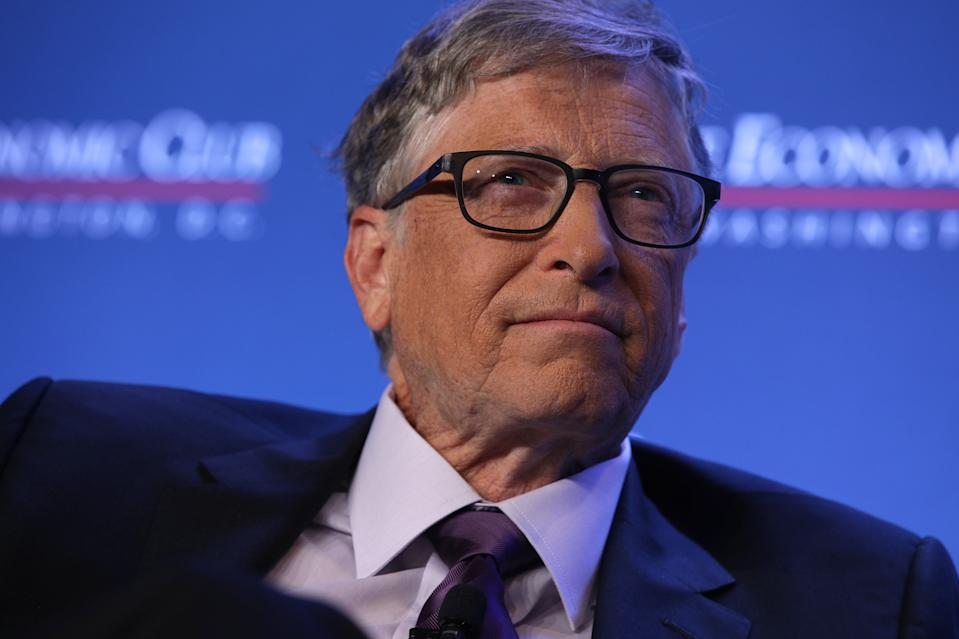 Microsoft principle founder Bill Gates participates in a discussion during a luncheon of the Economic Club of Washington June 24, 2019 in Washington, DC. Gates discussed various topics including climate change.  (Photo by Alex Wong/Getty Images)