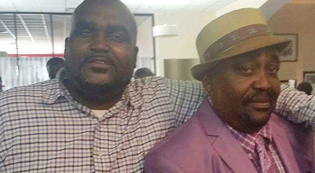 Pictured: Terence Crutcher, left, with his father, Joey Crutcher. Photo: AP /