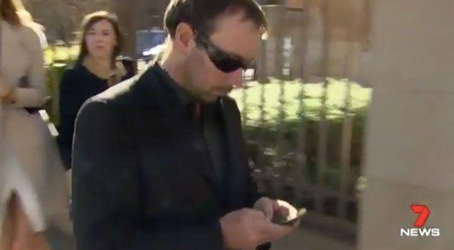 Adelaide man Shannon Aubert, 35, left court with a six month suspended sentence. Photo: 7 News