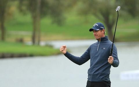Nicolas Colsaerts of Belgium reacts on the 18th green - Credit: Andrew Redington/Getty Images