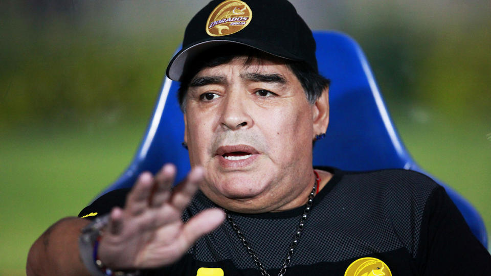 An expert medical panel has concluded football icon Diego Maradona received inadequate care prior to his death last year. (Photo by Mauricio Salas/Jam Media/Getty Images)